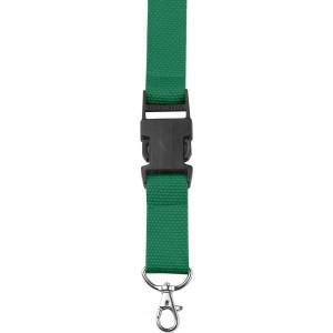 Csatos nyakpánt cseppkarabínerrel, fekete/zöld
