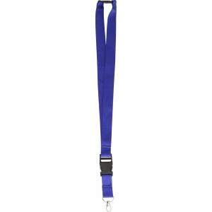 Csatos nyakpánt cseppkarabínerrel, fekete/kék